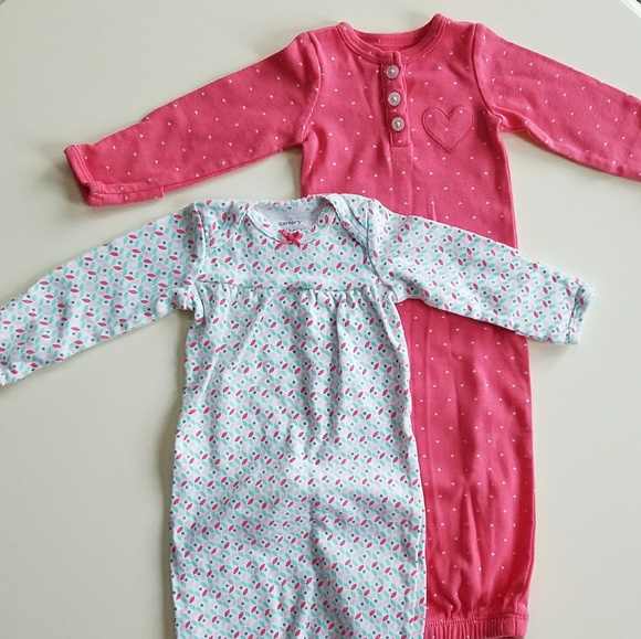 Nwot Carters Newborn Sleeper Gowns | Poshmark